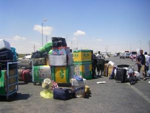 Perishable supplies stranded at the Rafah Gate.