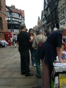 Remember Hiroshima - Street stall - Chester - Triden Ploughshares